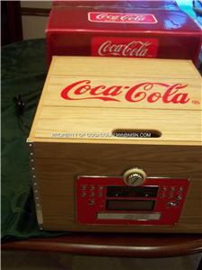 Coca Cola Crate Album Player Record Cd Am Fm Clock Nib Ebay