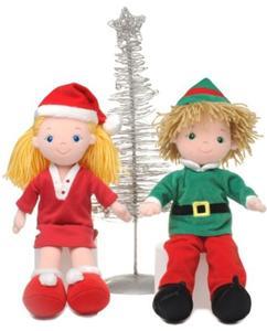 14 quot aurora rag doll xmas elf boy santa girl christmas traditional
