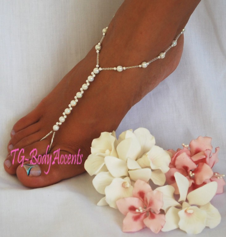 Barefoot-Sandals-Foot-Jewelry-Beach-Wedding-White-AB-2pc-set-FJ-063