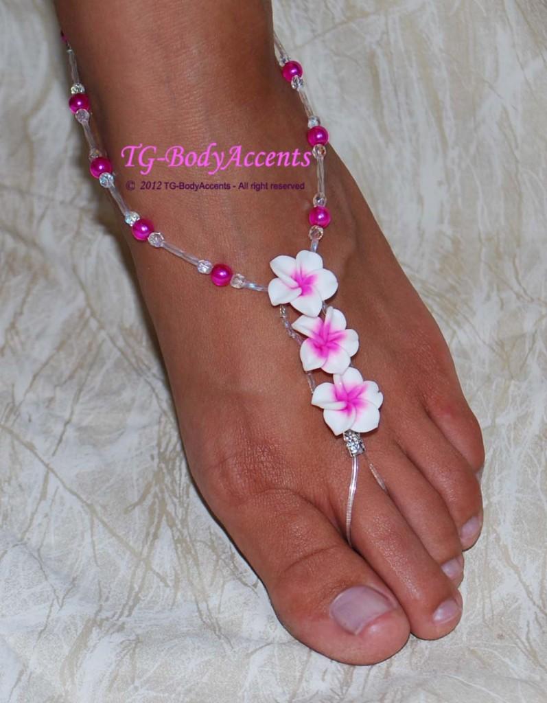 barefoot sandals foot jewelry wedding lil luau