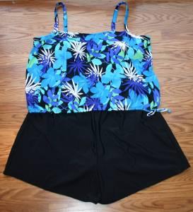 26 Hide The Muffin Top Blouson Blue Tankini Amp Swim Shorts