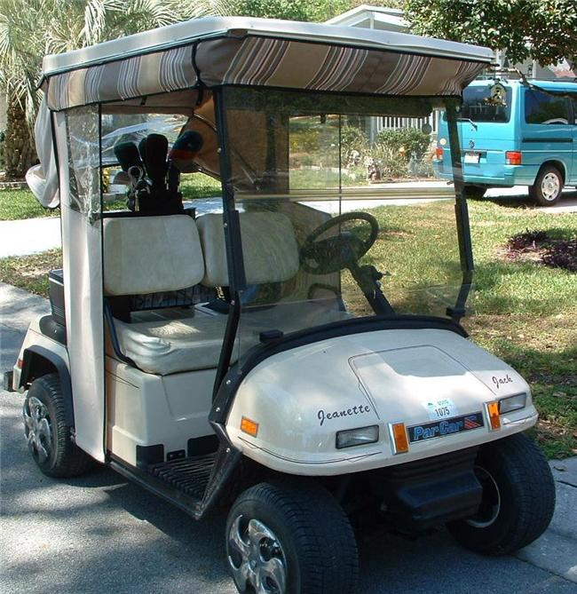 Par Car Golf Cart Split Winddshield 1999