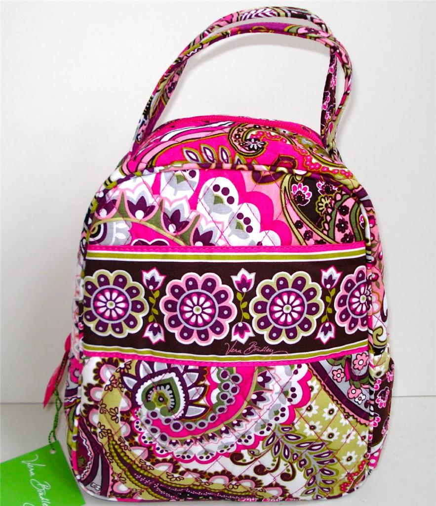 vera bradley let u0026 39 s do lunch insulated tote bag in your choice of 3 patterns nwt