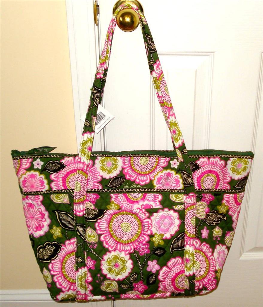 Gym Bag Vera Bradley: Vera Bradley MILLER TOTE BAG Zipper Top XL For Beach, Gym