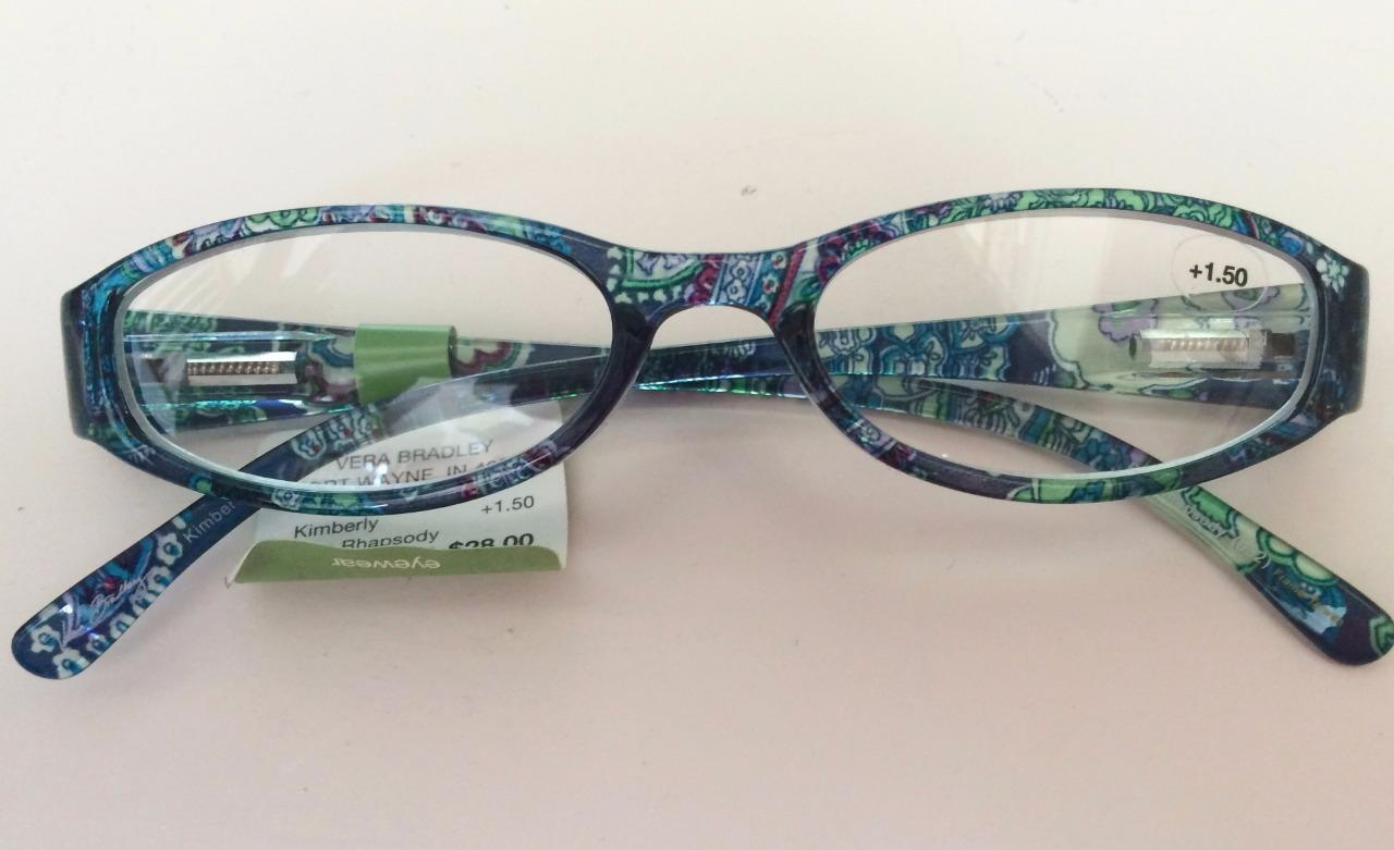 vera bradley reading glasses blue rhapsody