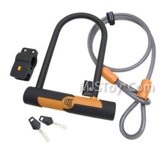 new on guard locks og series u lock high strength cable mounting bracket keys. Black Bedroom Furniture Sets. Home Design Ideas