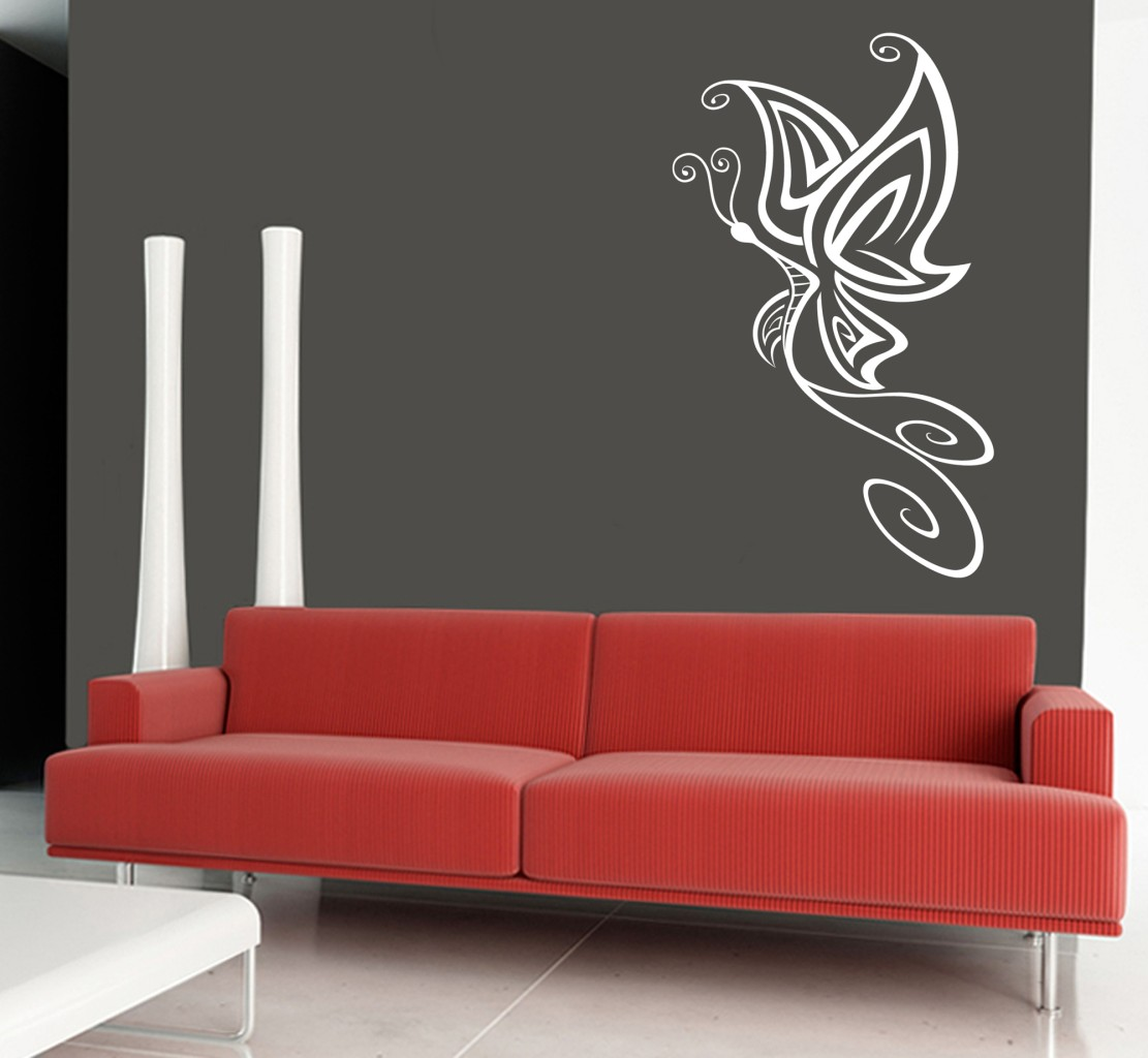 wall art sticker transfer bedroom lounge butterfly design 30 colours