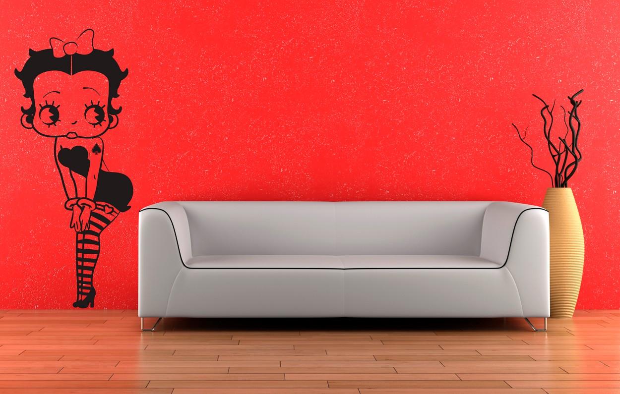 Wall Art Transfer Stickers : Wall art sticker transfer bedroom lounge betty boop