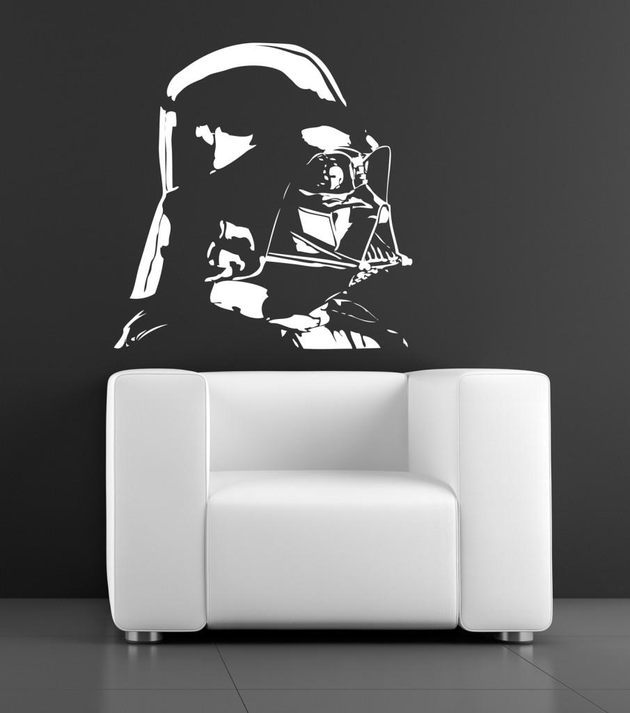Wall Art Transfer Stickers : Wall art sticker transfer bedroom lounge darth vader star