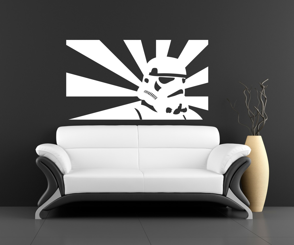 Wall art sticker transfer bedroom lounge storm trooper Wall stickers for bedrooms