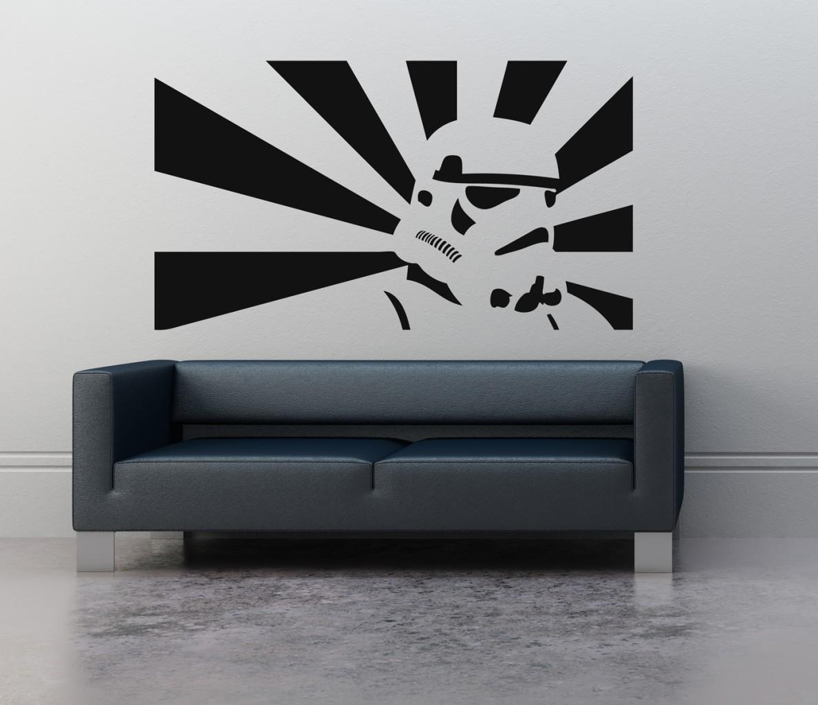 Wall Art Sticker Transfer Bedroom Lounge Storm Trooper