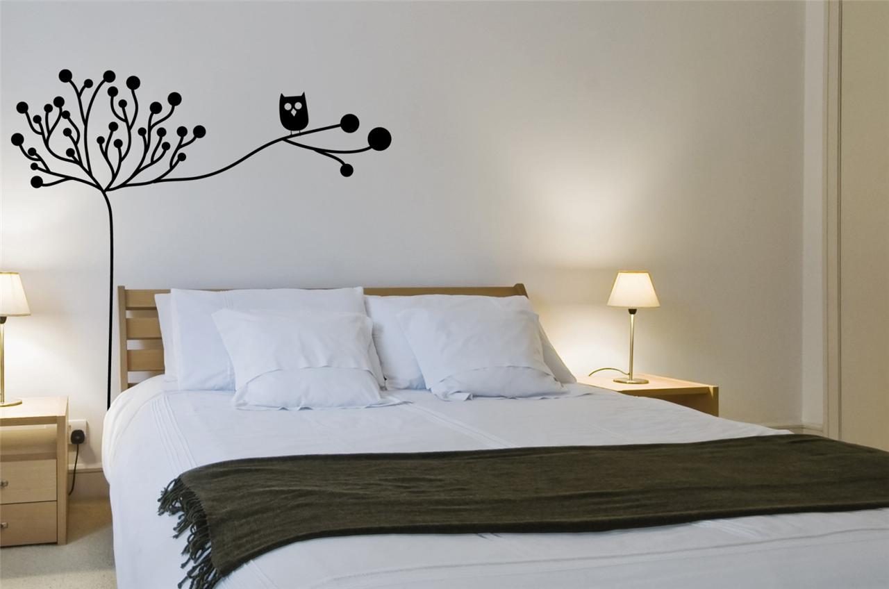 Wall Art sticker decal vinyl Owl in tree Interior