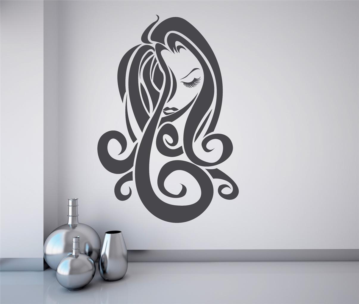 Hair salon wall art hair salon wall art home design for Stickers salon design