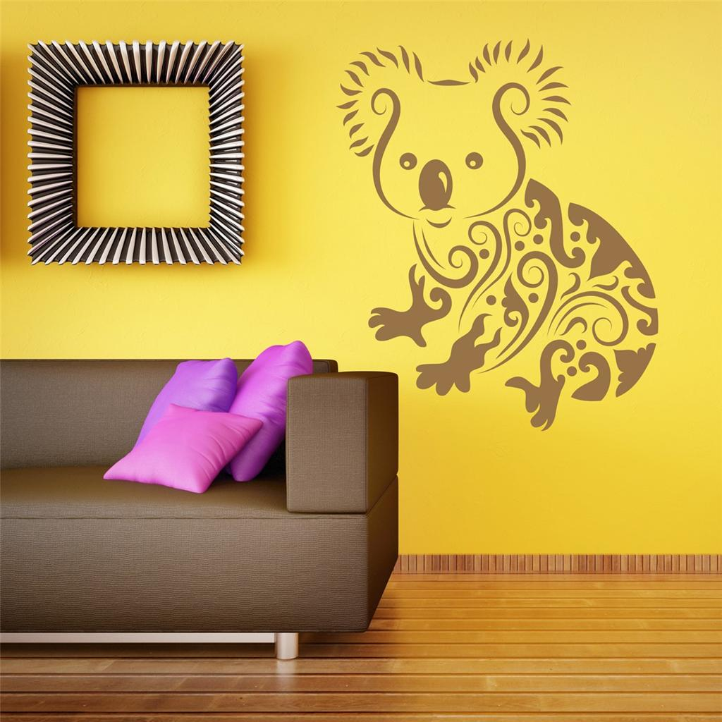 Wall art sticker decal vinyl cute tribal koala bear australia ebay Home decor wall decor australia