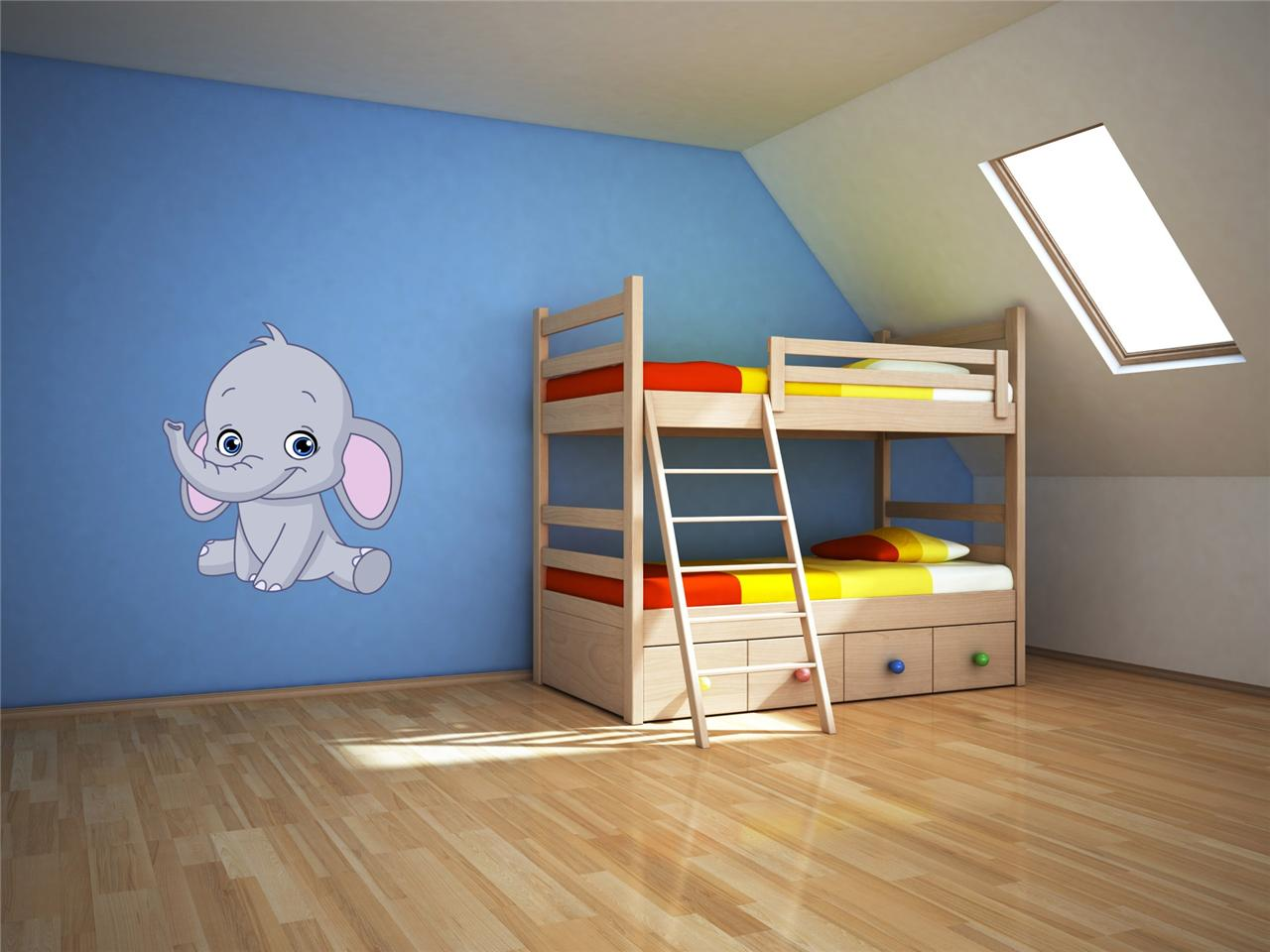 wall art sticker full colour cute baby elephant dumbo wall decal nursery and baby stuff pinterest