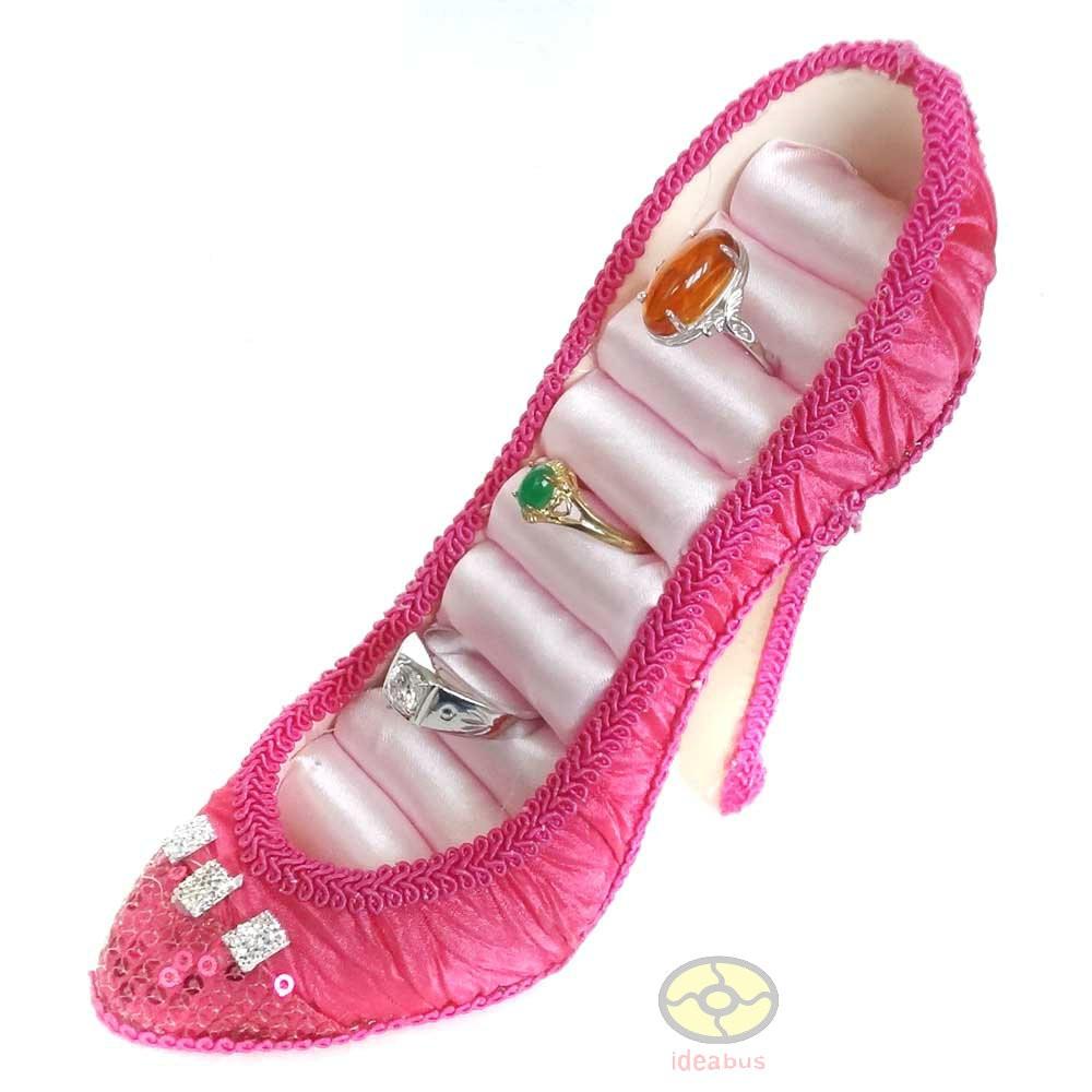 deeppink high heel shoe jewelry ring holder display