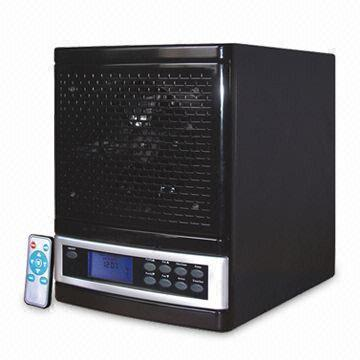 Latest Black Indoor Ionic & Ozone Portable Air Purifer with Washable HEPA Filter and Remote Control (300CHOB)