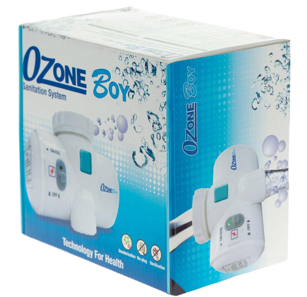 The OzoneBoy Water Sanitizer Attaches Right onto Sink Faucets #0D93BD