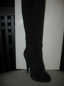 Givenchy Fetish Over The Knee Thigh High Tall Black Suede Boots 35 Eu 1450 Ebay