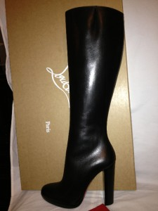Christian Louboutin Mirabelle Black Leather Tall Knee High ...