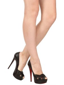 white louboutins - Christian Louboutin Aborina 150 Black Leather Twist Platform Heels ...