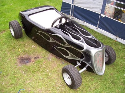 Mini-Hot-Rod-Go-Kart-Fibreglass-Body-Custom-Chassis