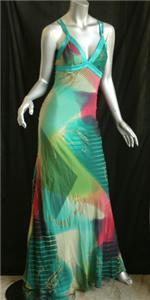 ETRO-Silk-Long-Maxi-Dress-Strappy-Back-RUNWAY-42-M-LUX