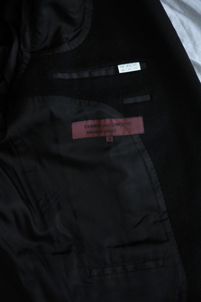 COMME DES GARCONS HOMME DEUX Mens Black Wool 2 Button Blazer Jacket