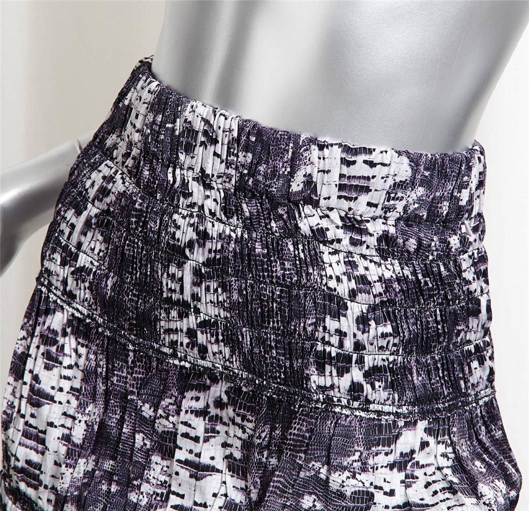ISABEL MARANT H&M Purple Snake Print Tiered Ruffle Mid-Calf Long Skirt 34/4 NEW | eBay