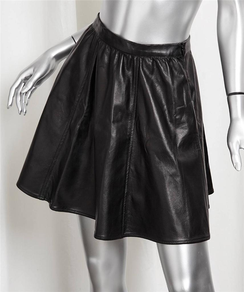 rails womens classic black lambskin leather high waisted