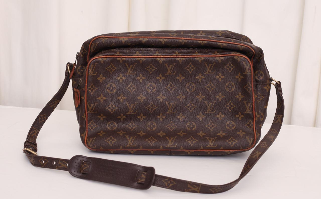 Louis vuitton monogram vintage brown nile unisex canvas for Louis vuitton bin bags