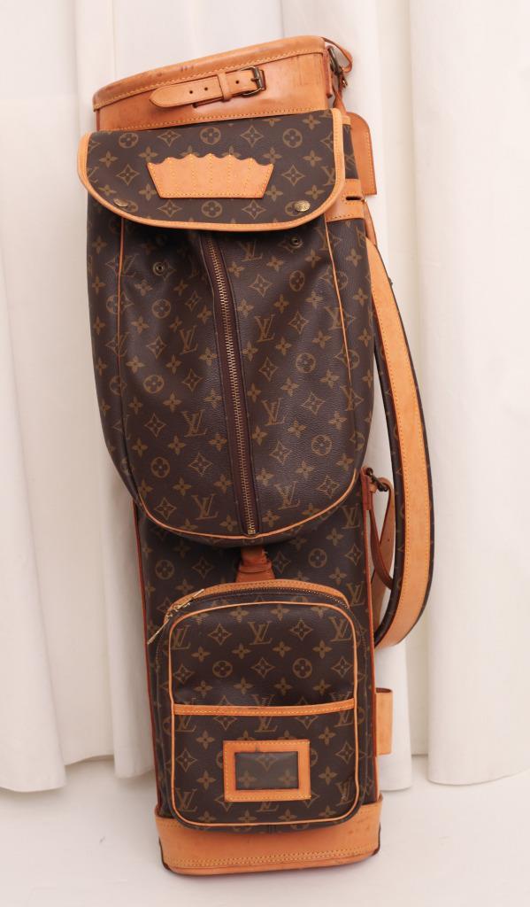Louis vuitton brown monogram classic lv vintage golf club for Louis vuitton bin bags