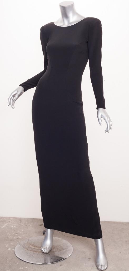 CHANEL HAUTE COUTURE *COLLECTIBLE*VINTAGE Black Long-Sleeve V-Back ...