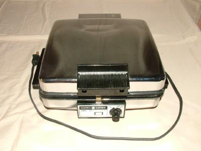 vintage ge general electric heavy waffle maker grill ebay. Black Bedroom Furniture Sets. Home Design Ideas