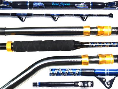 2 new big game fishing rod 30 50lb class e glass 5 39 6 ebay for Big game fishing rods