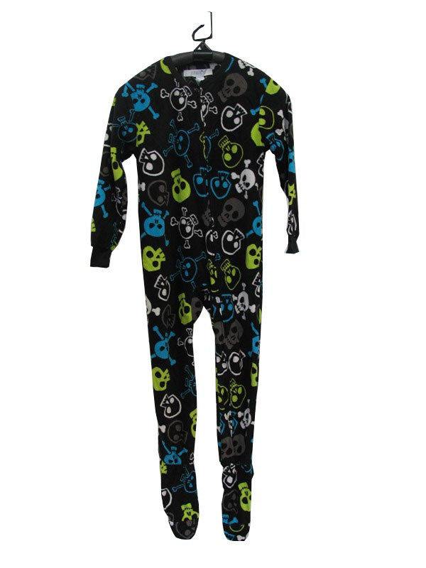 These footed pajamas are sure to become your kid's favorite! Our fun and cozy pajamas come in a selection of colors, patterns, in, cotton, fleece and chenille for boys and girls. Huge selection starting at as little as $