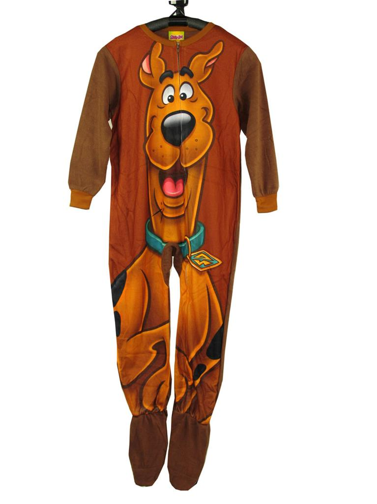 Adult footed pajamas scooby doo