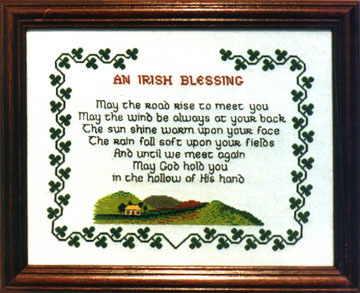 an irish blessing celtic cross stitch pattern chart ebay