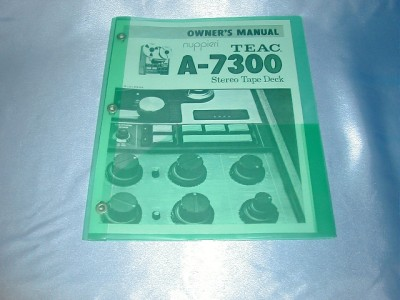Details about TEAC A-7300 REEL TO REEL OWNERS MANUAL FREE SHIPPING