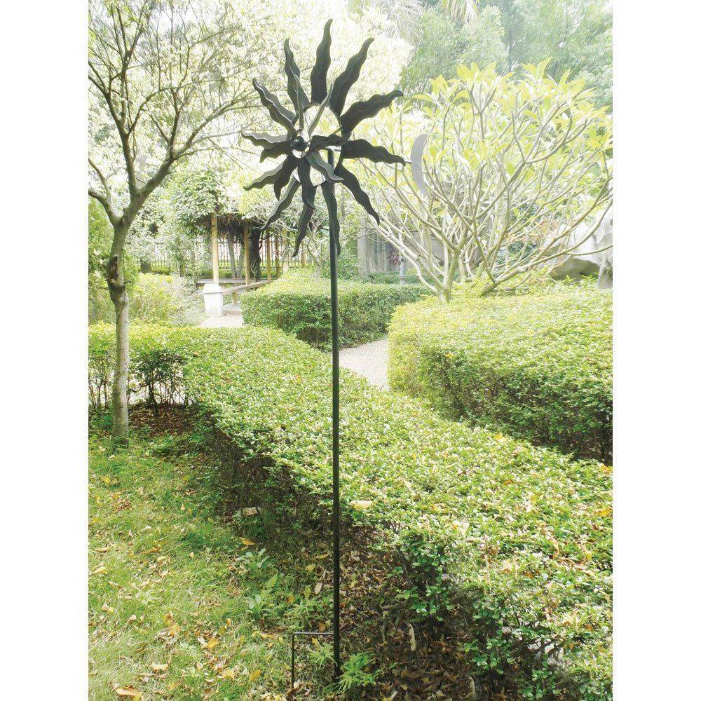 Spinning garden decorations - Tuscan Sun Garden Windmill Spinning Whirligig Yard Metal Art Statue Decor New