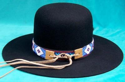 NAVAJO INDIAN Billy Jack Black or Brown NATANI NEZ RESERVATION FEATHER HAT