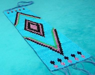 Native american cheyenne beaded strip crafts dress ebay for Cheyenne tribe arts and crafts