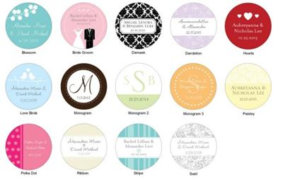 Personalized Wedding Favor Tags on 36 Personalized Tags Wedding Reception Bridal Shower Favors Gifts