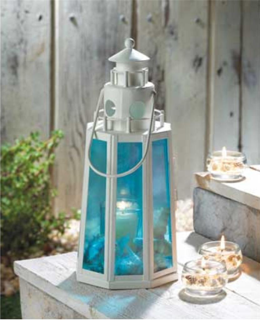 Ocean Blue Light House Lantern Beach Theme Wedding