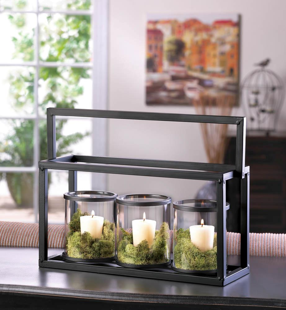 Contemporary-Black-Metal-Glass-Votive-Tea-Light-Candle-Holder-Centerpiece