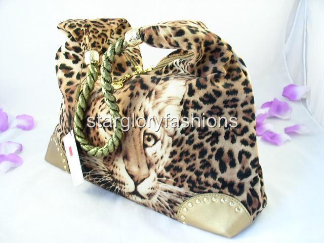 Fabulous Brown Big Leopard Print Hobo Shopping Handbag CHL D03288