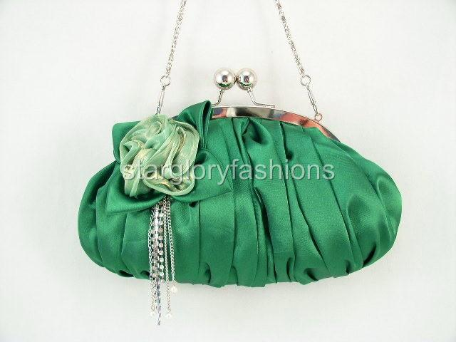 Emerald Green Wedding/Prom Clutch Jewel Crystal Tassel KD 04236