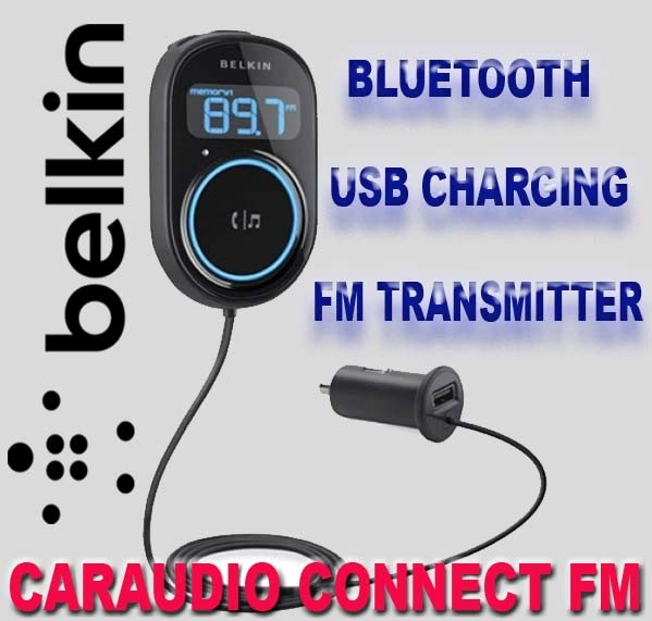 BELKIN-CARAUDIO-CONNECT-BLUETOOTH-HANDSFREE-FM-TRANSMITTER-F8M117AU