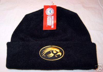 Iowa Hawkeyes Black Arctic Fleece Cuff Cap NWT