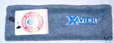 Xavier University Musketeers Grey Fleece Headband NWT